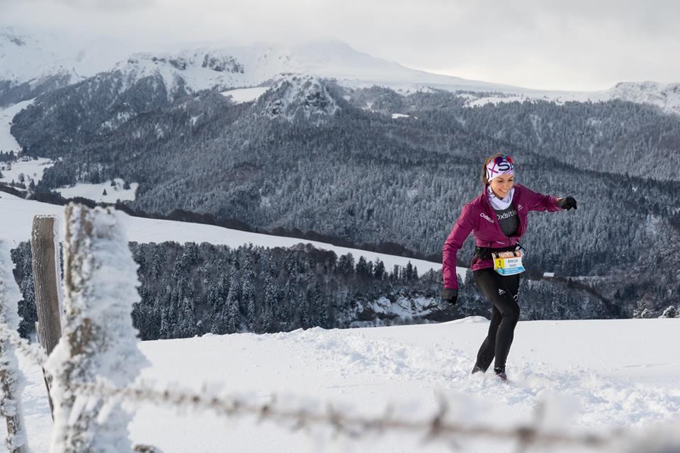 Anne-Lise Rousset sur le Trail du Sancy hivernal 2016