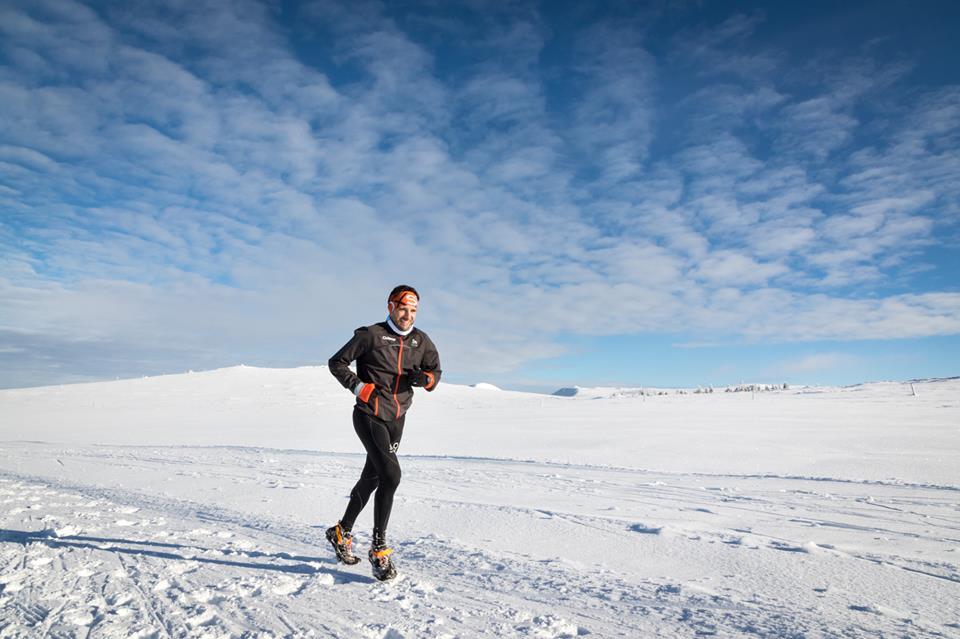 Fabien Andrieux sur le Trail du Sancy hivernal 2016