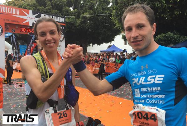 Nicolas Martin et Anne-Lise Rousset sur la Transvulcania 2016