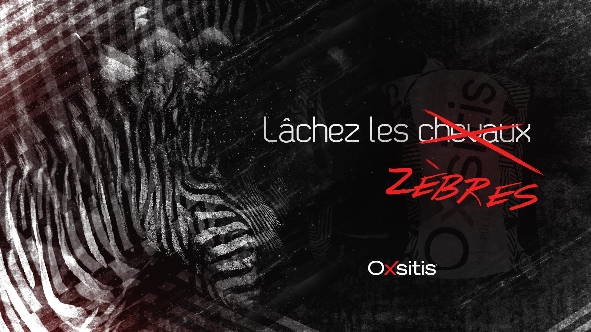 Campagne Oxsitis teasing : Lachez les zèbres